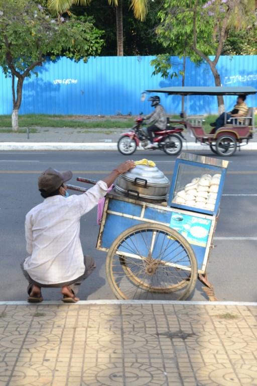 Brioches à la vapeur, Phnom Penh, Cambodge (Copier)